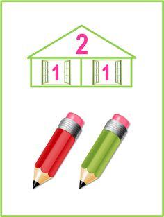 Состав чисел первого десятка. Числовые домики. | Началочка School Frame, Math Activities, Office Supplies, Pencil, Maths, Pallets, Autism, Puzzle, Ideas