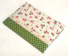 Fabric Journal  Little Red Roses with Green Polka by PatchworkMill, $18.00