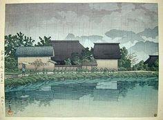 1946 - Hasui, Kawase - Rain at Yasuniwa, Nagano