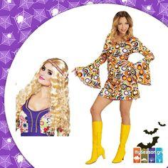 Στυλάτο #Disco Girl, η απόλυτη #τάση για τις φετινές #Απόκριες! 🎃 Στο #MySeason θα βρείτε κομψό φόρεμα με 70's διάθεση και υπέροχη περούκα για να σετάρετε την πιο funky #αμφίεση! 👄👗🎶