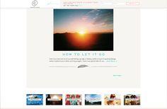 i love the mini blog squares at the bottom