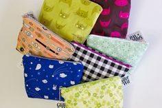 Zipper pouches by Glitter + Wit for Sewing to Sell Blog Tour