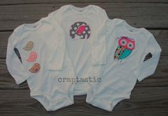 CRAPTASTIC: Appliqued Onsies for A Special 1st Birthday!