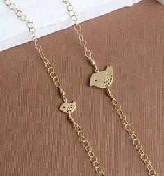 Mother Daughter Gold Bird Bracelet Set  door tinycottagetreasures, $52,00