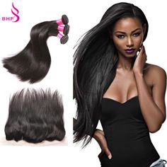 Aliexpress.com : Buy Brazilian Straight Virgin Hair With Frontal Closure Curly…