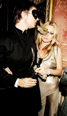 Kate Moss as a Masked Maiden