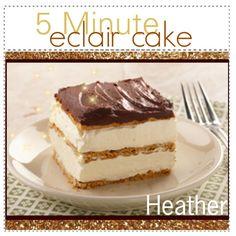 5 Minute No Bake Eclair Cake