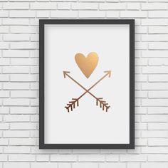 Heart and Arrows Art Print
