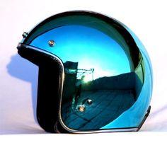 Masei Ocean Blue Chrome 610 Open Face Motorcycle Helmet Free Shipping Worldwide Open Face Motorcycle Helmets, Motorcycle Men, Motorcycle Types, Custom Helmets, Custom Bikes, Custom Choppers, Cool Motorcycles, Vintage Motorcycles, Victory Motorcycles