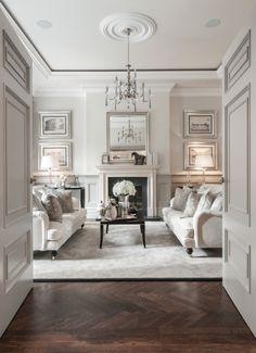 speechless. molding, herringbone floor, symmetry... hello interior, i think we're in love.