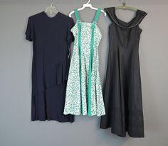 Lot of 8 AS IS Vintage Dresses 1940s 1950s by dandelionvintage