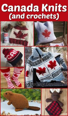 8 knitting and crochet patterns with a Canada theme! Dishcloth Knitting Patterns, Free Knitting, Free Crochet, Knit Crochet, Crochet Hats, Crochet Clothes, Baby Patterns, Knit Patterns, Canada Day Fireworks