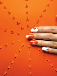 Insert Content: Cut paper backdrops designed and created for a pop-inspired nail art editorial in SELF Magazine. Photographer | Carlton DavisNail Art | Natalie Pavloski