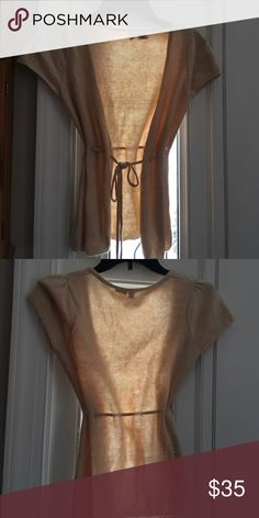 Anthropologie Moth tie front sweater Gorgeous new condition! Acrylic, mohair and nylon. Anthropologie Sweaters Cardigans