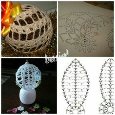Ornaments, Crochet, Home Decor, Balls, Xmas, Crochet Hooks, Homemade Home Decor, Crocheting, Christmas Decorations