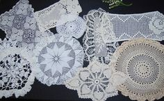 Vintage Doily Set of Ten Crochet Shabby by CheekyVintageCloset, $24.00