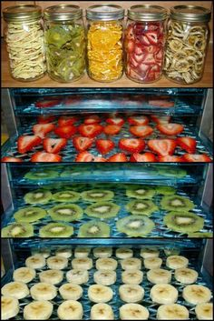 How To Make Your Own Healthy Dehydrated Fruits Besides freezing fruits and making smoothies, another way to use up all that farmers market bounty in your kitchen is to dry it. Dried fruit is a healthy option for those who like sweets, How To Make Smoothies, Fruit Smoothies, Making Smoothies, Raw Food Recipes, Healthy Recipes, Dehydrated Food Recipes, Healthy Tips, Delicious Recipes, Dry Food Storage
