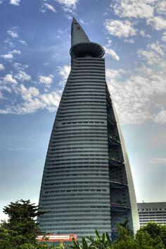 the Menara Telekom building Kuala lumpur Malaisia