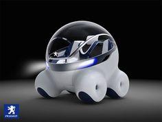 Diseño esférico para un coche conceptual de Peugeot.