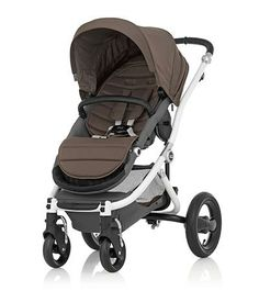 Affinity Stroller by Britax - White base frame with Fossil Brown color pack - Britax USA