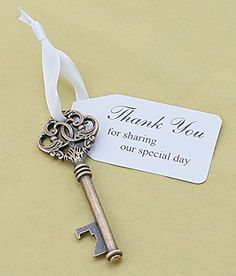 50pcs Wedding Favors Key Bottle Opener with Ribbon Escort... https://www.amazon.com/dp/B01ALDICH8/ref=cm_sw_r_pi_dp_x_NIlrybK81CBK0