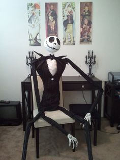 DIY Nightmare Before Christmas Halloween Props - this is awesome!