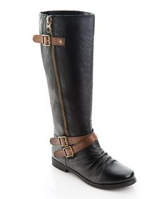 Take a look at this Black Meghan Boot by ShoeMint on #zulily today!