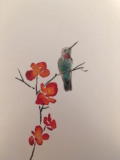 #inkpainting #ink #paintimg #flowers #robin #lyn #robinlyn #bird #bluebird #yellow #finch #cherryblossoms #tree #master