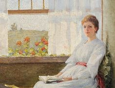 Carle John Blenner Lady in White by a Window Early 20th century