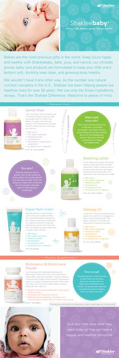 Shaklee Kids and Baby brochure on Behance