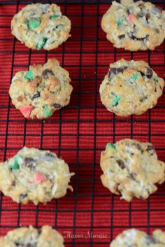Loaded Christmas Cowboy Cookies | Flavor Mosaic