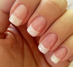 faded french nails Hair Colors - faded french nails Hair Co. - faded french nails Hair Colors – faded french nails Hair Co… – faded fr - French Tip Gel Nails, French Manicure Nail Designs, Glitter French Manicure, Nail Manicure, Nail Art Designs, French Manicures, Manicure Ideas, French Tip Nail Art, French Nail Art