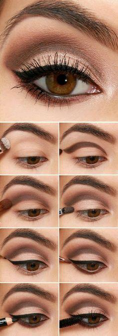 Diese Hautpflege-Tipps machen Ihre Haut glücklich – Lifestyle Monster tuto maquillage yeux noisettes maquillage yeux marrons comment faire photos par étapes - Schönheit von Make-up Makeup Inspo, Makeup Inspiration, Makeup Style, Makeup Geek, Makeup Kit, Style Inspiration, Makeup Blog, Makeup Case, Makeup Studio