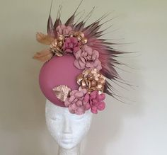 It's Only Fitting millinery Millinery Hats, Fascinator Hats, Cream Hats, Rose Vintage, Lace Dress Styles, Royal Ascot, Summer Hats, Hat Making, Headgear