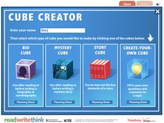 Cube Creator  Such an awesome hands on alternative to a story map!  Pumped about this!