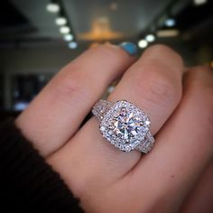 Gabriel NY Double Halo Engagement Ring