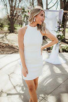 af7a2ed8570 Ivory Fitted Halter Dress - Dottie Couture Boutique Dottie Couture Boutique,  White Dress