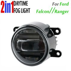 116.10$  Watch now - http://ali0b9.worldwells.pw/go.php?t=32748335905 - 90mm Round Auto Car Truck DRL Daytime Fog Led Daytime Running And Led Fog 2 In 1 With Projector Lens Waterproof For Ford Falcon