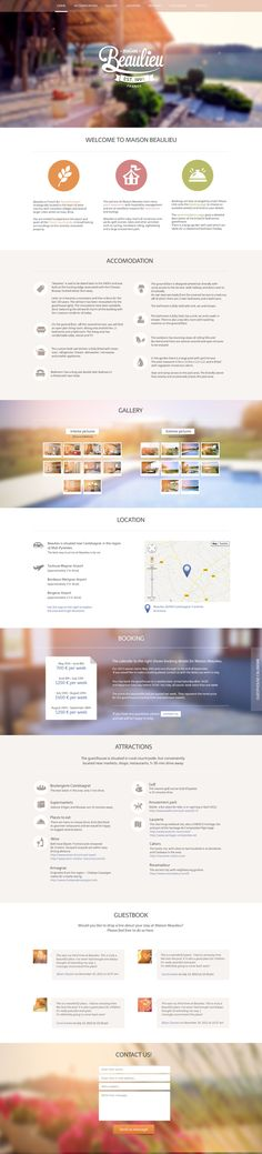 Maison Beaulieu website and branding. by Diana Wieczorek, via Behance
