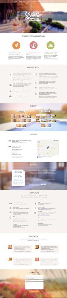 Maison Beaulieu website and branding. by Diana Wieczorek, via Behance