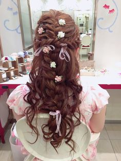 Must-try Braided Hairstyles Box Braids Hairstyles, Kawaii Hairstyles, Pretty Hairstyles, Lolita Hair, Bridal Hairdo, Natural Hair Styles, Long Hair Styles, Hair Dos, Hair Inspiration