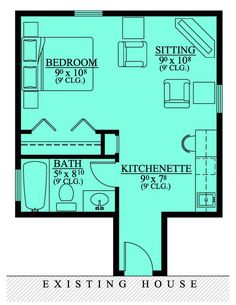 Studio apartment floor plans 400 sq ft and nha for House plans with income suite