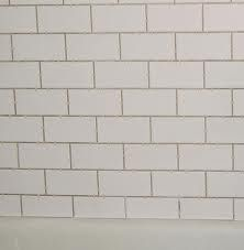 White Subway Tile Grey Grout On Pinterest Grout