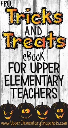 Looking for some fun, yet academic Halloween activities to use in your classroom? Download this free eBook brought to you by the teachers at www.UpperElementa.... It's filled with tips and free resources that are perfect for this time of year.