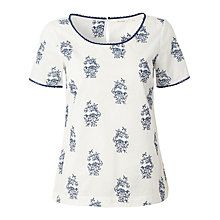 Buy White Stuff Indigo Embroidered Top, White Online at johnlewis.com - could wear with blue skirt from East with blue jacket from white stuff