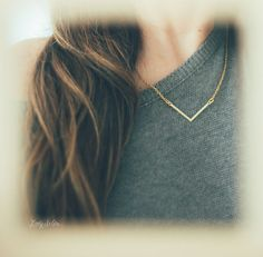 Teepee Necklace. Geometric Necklace. Triangle by LadySelvaShop