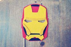 Iron Man Photo Prop // Photo Booth Prop // Super Hero Prop // Super Hero Mask. $13.00, via Etsy.