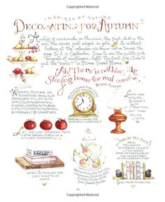 Decorating For Autumn . Illustration by Susan Branch from her book: Autumn from the Heart of the Home Susan Branch Blog, Branch Art, Mary Engelbreit, Happy Fall Y'all, Vintage Recipes, Food Illustrations, Fall Crafts, Thanksgiving Crafts, Recipe Cards