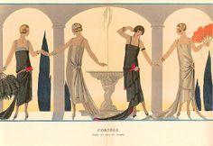 George Barbier fashion illustration,French artist George Barbier, Art Deco fashion illustration