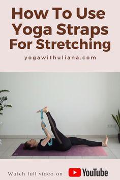 Yoga Videos, Workout Videos, Yoga Fitness, Yoga Flow Sequence, Yoga Props, Yoga Strap, Learn Yoga, Yoga Positions, Yoga Block